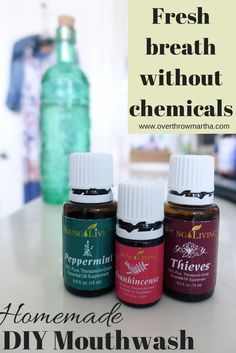 Easy DIY Thieves Mouthwash #essentialoils #dentalcare #naturalremedy