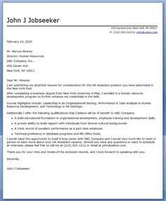 Recent College Graduate Cover Letter Sample - Fastweb | Resumes ...