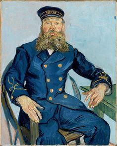 Vincent van Gogh, Postman Joseph Roulin 1888 on ArtStack #vincent-van-gogh #art