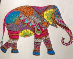 Millie Marotta dierenrijk kleurboek Olifant