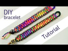 ▶ Easy Criss-Cross Bracelet Tutorial - YouTube