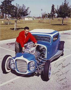Clarence Catallo's 1932 Ford coupe , also known as the Little Deuce Coupe, was chopped and repainted by Barris Kustoms around 1960-1961.