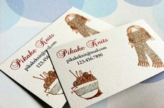 Personalized Sewing Knitting Business Cards Calling by PikakePress