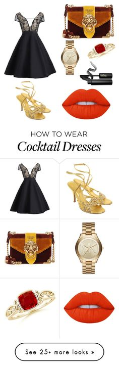 """Untitled #18"" by mbeetee on Polyvore featuring Prada, Michael Kors, Lime Crime, INIKA and Sergio Rossi"