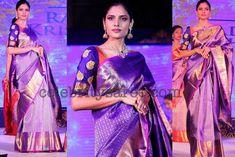 Purple Saree Elbow Length Blouse - Saree Blouse Patterns