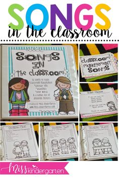 Do you use songs during your circle time routine? Print these great songs to incorporate in your preschool or kindergarten classroom! After all, students love learning through song! #songs #printables