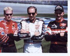 Dale Jr, Dale Sr. and Kerry Earnhardt wizardofosrin