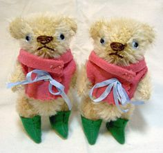 Boots! Mini Vintage style mohair Bears by pengpengs, via Flickr