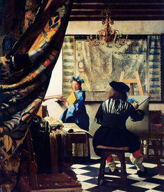 Johannes Vermeer    Resim Sanatı / The Art of Painting    1666-1668. Tuval üzerine yağlıboya. 120 x 100 cm. Kunsthistorisches Museum, Wien.