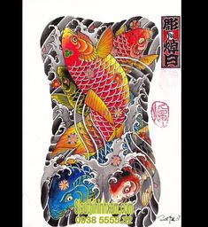 Tattoos on back – Tattoos And Full Back Tattoos, Full Body Tattoo, Body Tattoos, Life Tattoos, Tattoos For Guys, Sleeve Tattoos, Carp Tattoo, Tattoo Son, Chinese Tattoo Designs