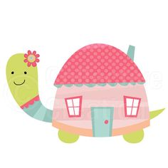 Turtle House - Home Sweet Home Digital Clip Art Set - Personal and Commercial… Art Wall Kids, Art For Kids, Sea Turtle Quilts, Baby Applique, Turtle Pattern, Clip Art Pictures, Patchwork Baby, Cute Images, Baby Prints