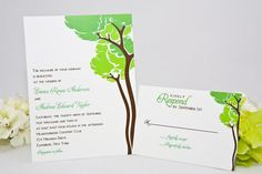 Woodsy Wedding Invitations  Outdoor wedding by Whimsicalprints, $2.50 w/rsvp