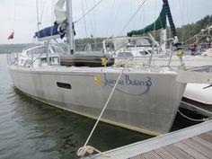 Nice Doghouse....Juan Sa Bulan 3 Boreal 44 - aluminum expedition sailboat moored in Treguier France -