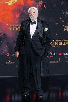 The man who brings President Snow to life, Donald Sutherland at 'The Hunger Games: Mockingjay - Part 2' World Premiere.