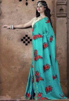 Green Designer Rajsthani Resham Saree@ fashionsbyindia.com #designs #indian #fashion #womens #style #cloths #fashion #stylish #casual #fashionsbyindia #punjabi #suits #saree #wedding
