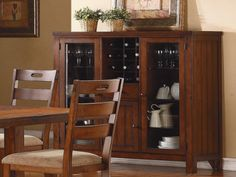 Clayton Curio by Homelegance in Dark Oak