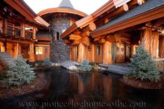 """View our picture gallery of our log home featured project """"Big White"""" located in Kelowna, BC, Canada. We carefully construct our log homes with distinct aritistry and personality."""