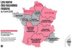 Nouveaux noms des nouvelles régions au 4 avril 2016