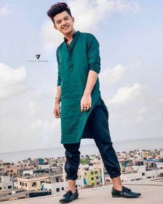 Eid Mubarak Everyone❤️ Clothing by Edit by Cute Boy Photo, Photo Poses For Boy, Boy Poses, Mens Poses, Cute Boys Images, Boy Images, Photoshoot Pose Boy, Kurta Men, Sr K