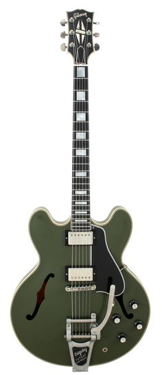 Gibson Limited Edition ES 355 Bigsby Olive Drab VOS 2015 | Rainbow Guitars