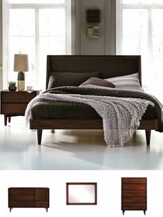 Jensen Bedroom in cherrywood by West Bros Furniture.  Made in Canada!!!