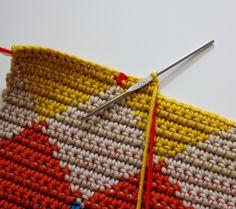 O Wow, Ik Heb Gisteren Iets Fantastisch - Diy Crafts Crochet Lace Scarf, Crochet Diy, Crochet Motifs, Crochet Stitches Patterns, Tunisian Crochet, Tapestry Crochet, Crochet Designs, Crochet Crafts, Crochet Hooks
