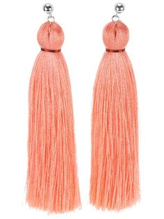 Coral tassel earrings !! Omg ! I have a new craze for tassel earrings !! Have to get these soon !