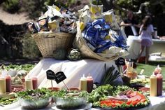 Casual Camp Bat Mitzvah buffet