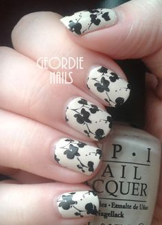 French Floral Manicure