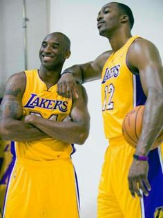 Kobe Bryant & Dwight Howard This sure didn't work out..