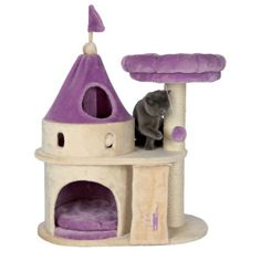 TRIXIE's My Kitty Darling Castle will provide endless opportunities for kittens and small breed cats to play, explore, scratch or just relax. Felines can sharpen their claws on the durable, sisal scratching post instead of on your furniture or carpet.