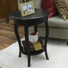 Alcott Hill Ballyclarc Chairside Table Finish: Antique Black