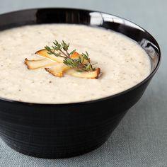 Creamless Trumpet Mushroom Soup- Gluten Free, Vegan & Low Calorie!