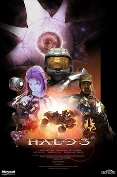 Halo 3 fan art. Done like a Star Wars Poster
