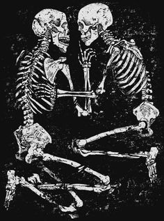 old couple skeleton grave sketch - Google Search