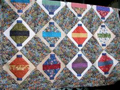 Chinese Lantern Quilt   Chinese Lanterns.Raffle quilt for guild.