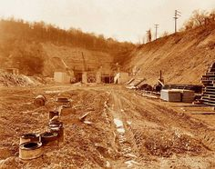 Historic Pittsburgh, Pennsylvania - The beginning of the Squirrel Hill tunnels...
