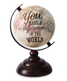 Look at this 'You Make a Difference' Globe on #zulily today!