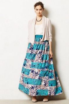 Brand New Anthropologie Novella Ball Gown Style Maxi Skirt Lined With Tulle