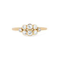 .3 Carat Diamond & Yellow Gold Cloud Ring, Logan Hollowell
