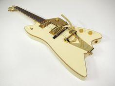 2005 Gretsch Thunderbird Billy Bo Jupiter mint all original White w Gold Metal-flake ohsc TV Jones | Reverb