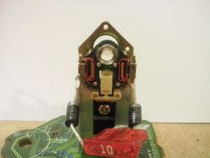"""""""The 01 Master"""" a character from Phygitales  (made from recycled electonic parts)"""