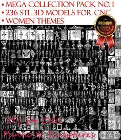 236 Women Theme 3D STL Model for CNC Router Engraver Relief Artcam Aspire