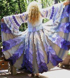 Sale - Recycled Sweater Coat, Upcycled, Molly Weasley Crochet Sleeves,  Elfin , Renaissance Faire, Gypsy, Bohemian Fantasy , Ready to Ship on Etsy, $450.00