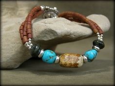 Turquoise Bracelet - Beaded Bracelet - Southwest Bracelet - Native Bracelet - Heishi Bracelet - Southwestern. $43.00, via Etsy.