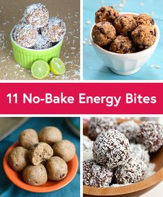 11 No-Bake Energy Bite Recipes - tried the Coffee and Chocolate Energy Bites, yum! Can't wait to try more.