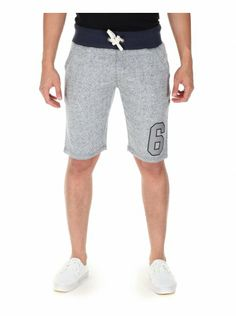 68d762ebe2 Twisted Soul Mens Grey & Navy Neppy Number Jogger Shorts, £16.99 Jogger  Shorts