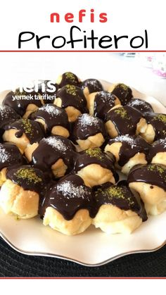 Profiterol – Nefis Yemek Tarifleri – How to make a Profiterole Recipe? Illustrated explanation of the Profiterole Recipe in the book of 705 people and photos of those who try it are here. Homemade Desserts, Easy Cake Recipes, Dessert Recipes, Bread Recipes, Profiteroles Recipe, Cakes Plus, Best Bread Recipe, Dessert Bread, Chocolate Desserts