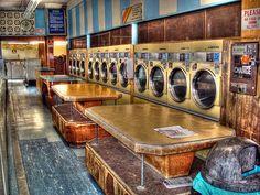 Delaney Laundromat, 701 Haight Street. - Where Katie and I used to do laundry.