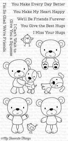 My Favorite Things -  FRIENDS FUREVER - Stamp Set - Hallmark Scrapbook - 1